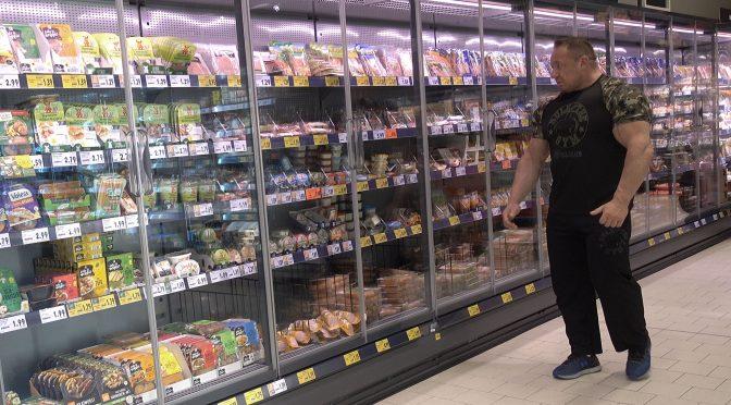 Protein-Kauf im Supermarkt